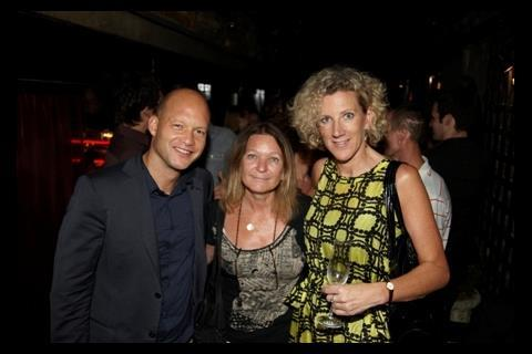 Goldcrest Capital partner Adam Kulick with producer Sally Caplan and Olswang's Jacqueline Hurt.